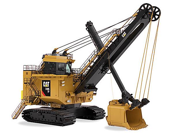 Caterpillar 7495 HF electric rope shovel