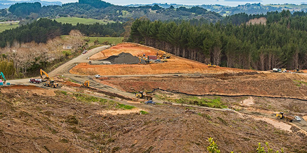 Motorway construction at Moir Hill