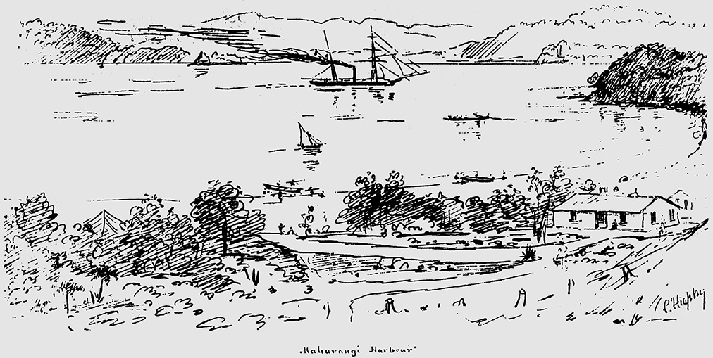 Scotts Landing, Charles Heaphy sketch