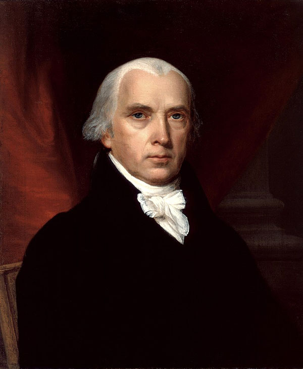 James Madison by John Vanderlyn, 1816