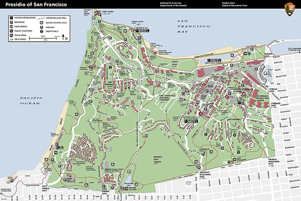 Presidio Park map