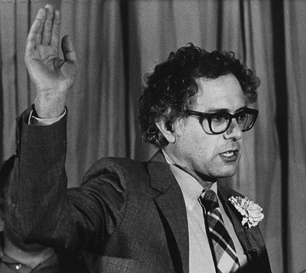 Bernie Sanders swearing in as mayor of Burlington, 1981