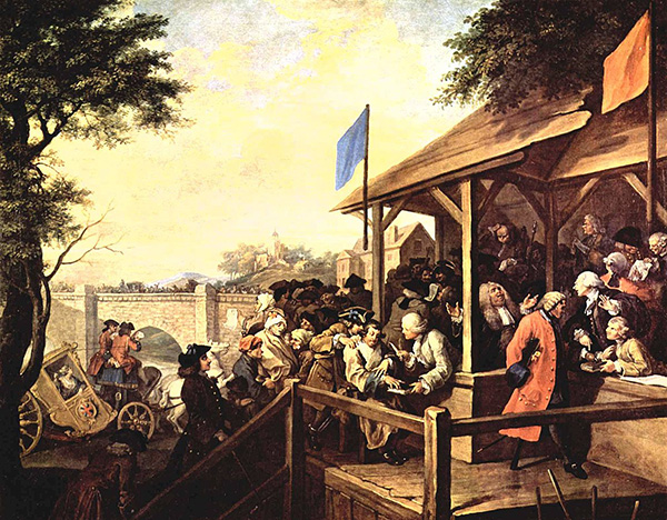 William Hogarth, The Polling Place