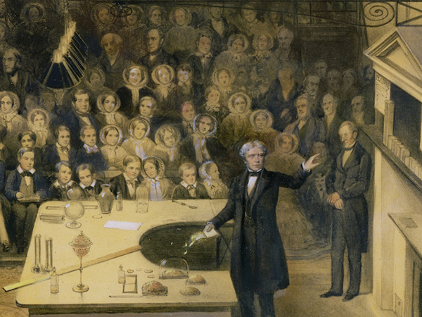 Faraday lecturing at the Royal Institute