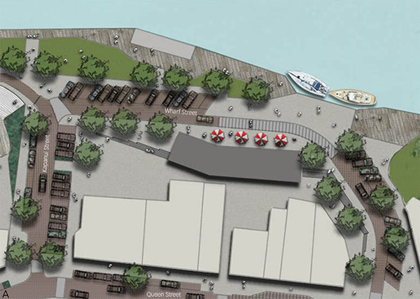 Town-centre upgrade, Wharf Street concept