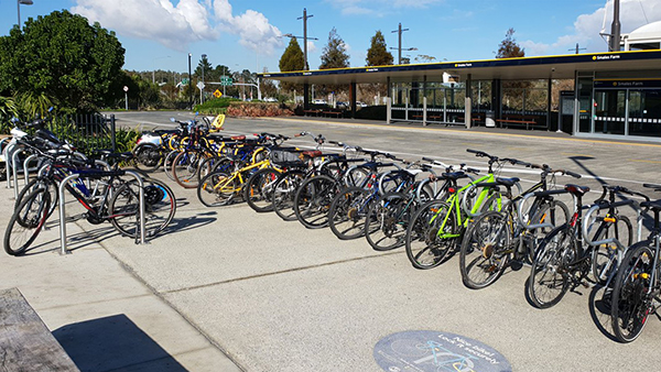 Smales Farm Busway Station bicycles