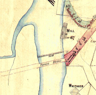 Map showing flour mill