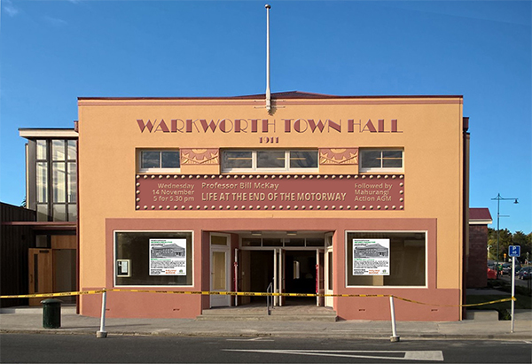 Warkworth Town Hall coming event graphic