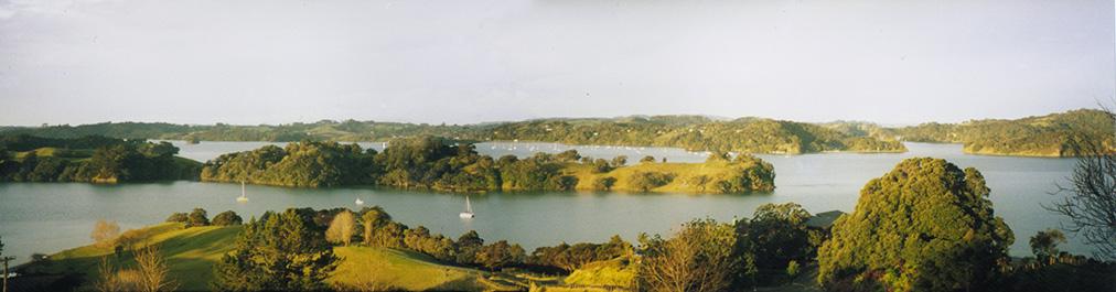 Pukapuka panorama from top house