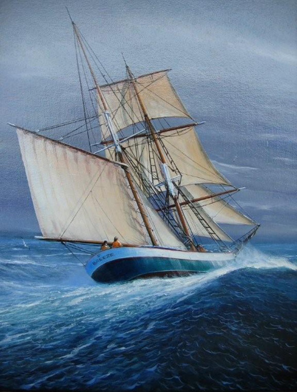Ralf Sewell-designed and (mostly) built brigantine Breeze
