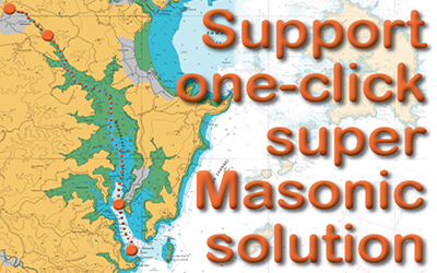 Super Masonic solution to blank riverbank wall