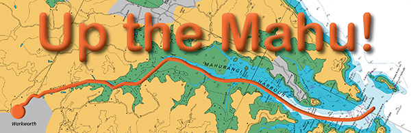 'Up the Mahu!' graphic