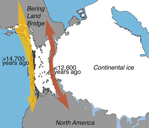 Migration route to Americas