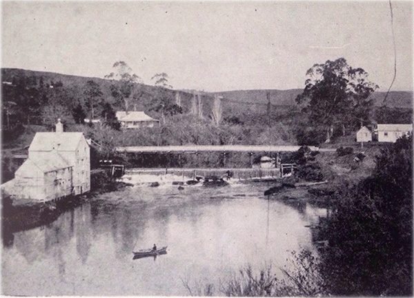 Mahurangi Punt, Warkworth flour mill and dam, and first bridge