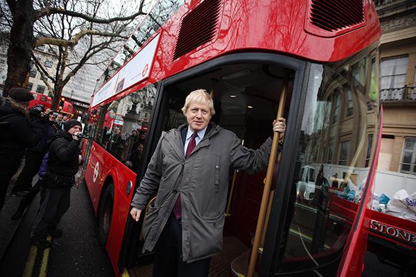 Boris Johnson aboard New Routemaster