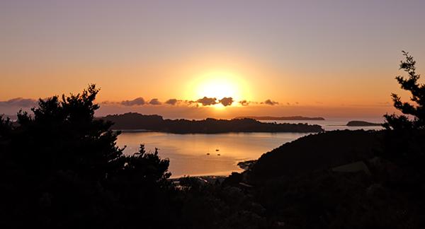 Mahurangi West sunrise, 20 September 2019
