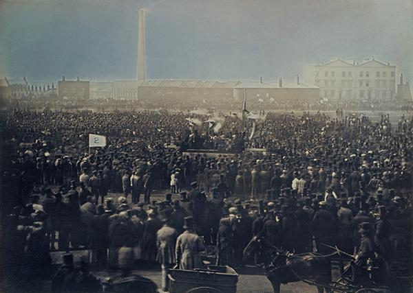 Chartist meeting on Kennington Common, 1848