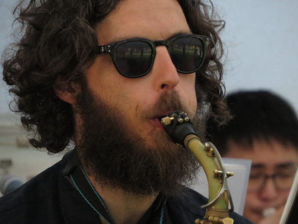 West City Jazz Orchestra saxophonist, Mahurangi Regatta 2020