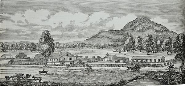 Diniwarindi Station, etching, 1870s