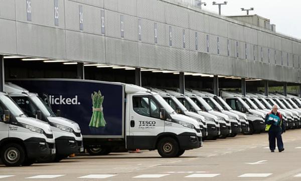 Tesco delivery vans