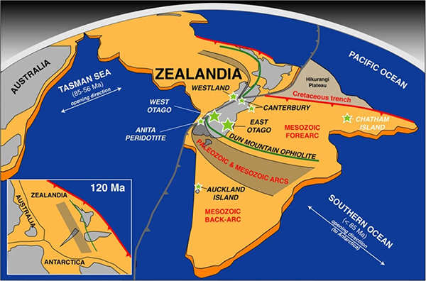 Zealandia and other continents
