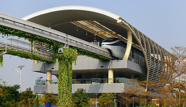 BYD SkyRail demonstration installation, BYD headquarters, Shenzhen, China