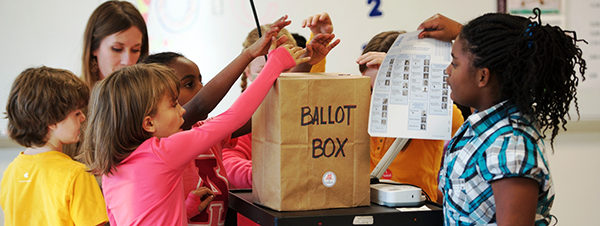 Kids Voting Minnesota Network, elementary school students voting