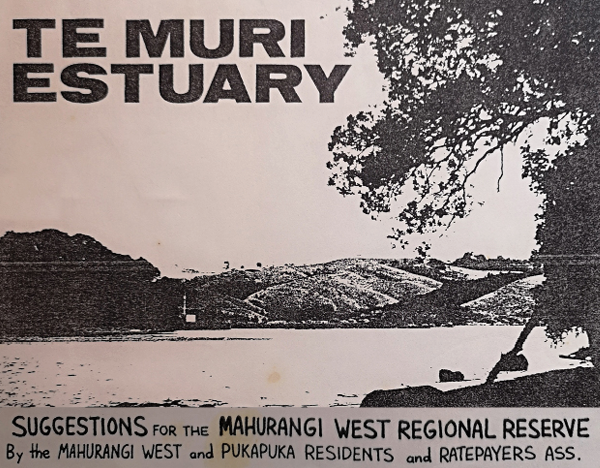 Elements of cover of 1987 Suggestions for the Mahurangi West Regional Reserve document