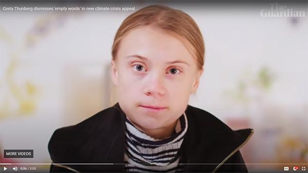 Greta Thunberg, 10 December 2020