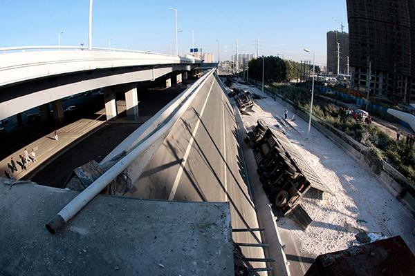 Yangmingtan Bridge collapse