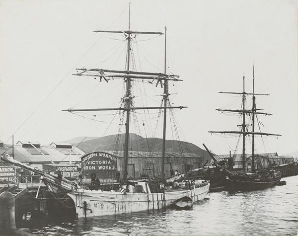 Topsail schooner Marmion, and brigantine Sir Henry, at Dunedin