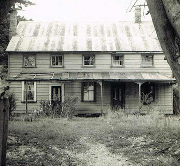 Scott Homestead prior to Civic Trust Auckland restoration