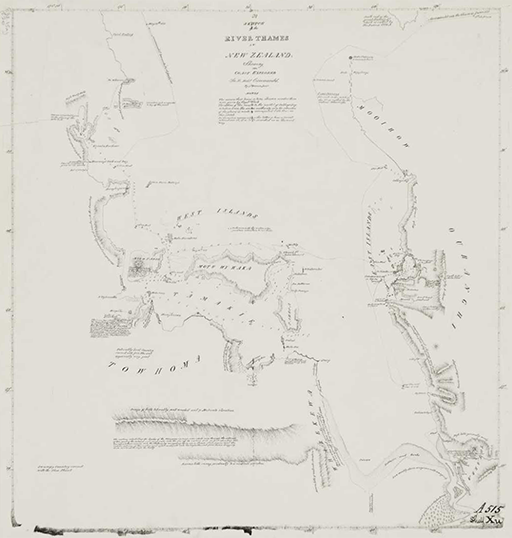 Captain James Downie, Sketch of the Thames River, 1821