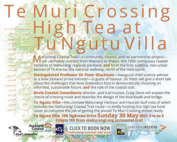 Invitation to Te Muri Crossing High Tea, 30 May fundraiser