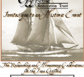 Official invitation to the Jane Gifford Re-Launch and Homecoming Celebration
