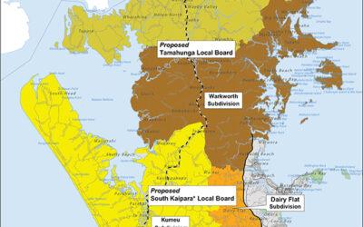 Mahurangi Action application for a Tamahunga Local Board